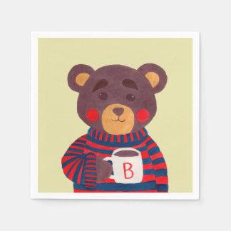 Winter Season is Coming (Bear) Paper Napkin