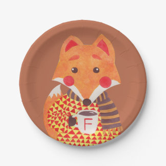 Winter Season is Coming (Fox Edition) Paper Plate