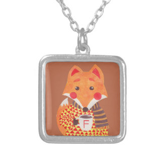Winter Season is Coming (Fox Edition) Square Pendant Necklace