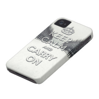 Winter season keep calm and carry on iPhone 4 case
