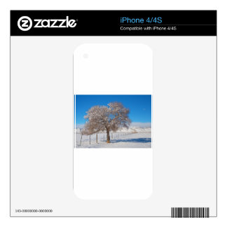 Winter Season On The Range Snow and Blue Sky Decals For iPhone 4S