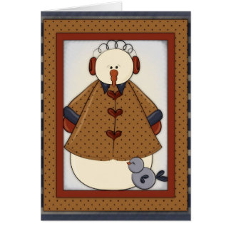 Winter Season Snowfolk Snowman Greeting Card 1