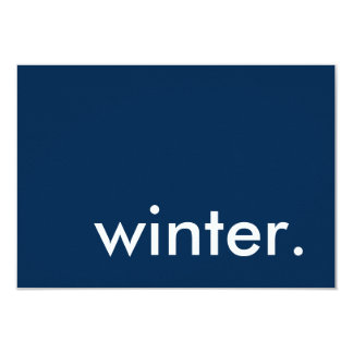 winter seasonal party card