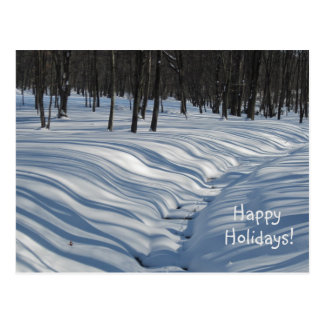 Winter Shadows Holiday Postcard