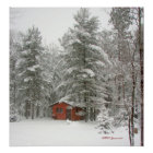 Winter Shed Snow Storm Poster