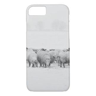 Winter sheep flock iPhone 7 case