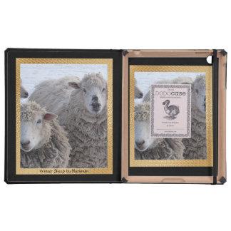 Winter Sheep iPad Folio Cases