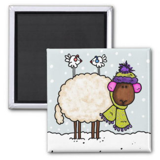 winter sheep magnet