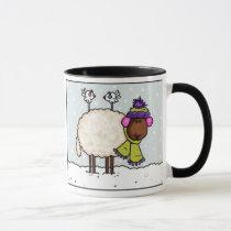 winter sheep mug