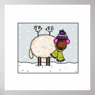 winter sheep poster