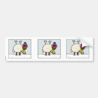 winter sheep scrapbook sticker