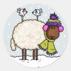 winter sheep sticker