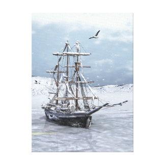 Winter Ship Canvas Print