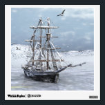 """Winter Ship Wall Sticker<br><div class=""""desc"""">A tall ship trapped in ice.</div>"""