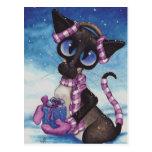 Winter Siamese Post Cards