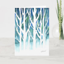 Winter Silhouette Holiday Card