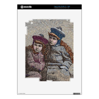 Winter Sisters Decals For iPad 2