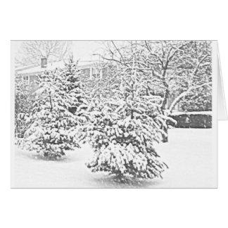 Winter Sketch II Notecard Stationery Note Card
