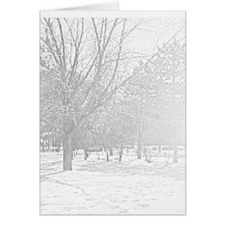 Winter Sketch V Card
