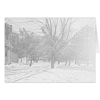 Winter Sketch V Notecard Stationery Note Card