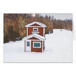 Winter Ski Lodge Card