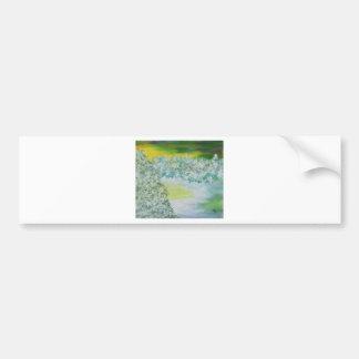 Winter Sky and Land Art Bumper Sticker