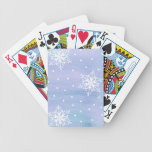Winter Sky Snowflakes Polka Dots Bicycle Playing Cards
