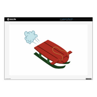 """Winter Sled Decal For 17"""" Laptop"""