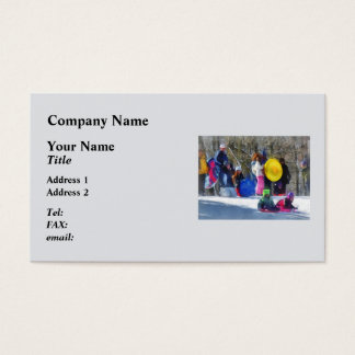 Winter - Sledding in the Park Business Card