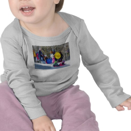 Winter - Sledding in the Park T Shirts