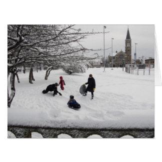 Winter Sledding Jersey City BIG Card