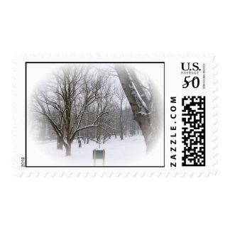 Winter Sleep Postage Stamp