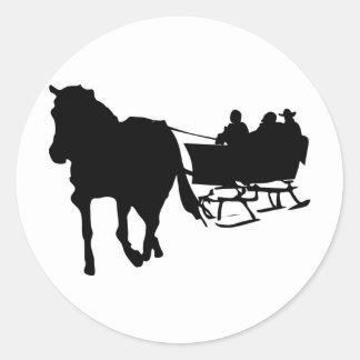 Winter Sleigh Ride Holiday Design Stickers