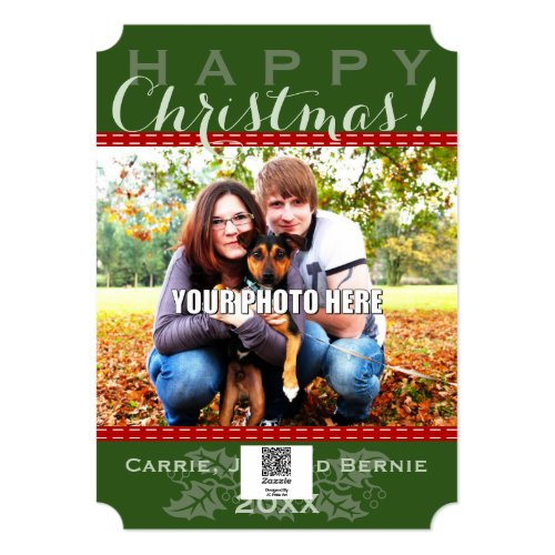 Winter Sleigh Ride Mountain Christmas Photo Card