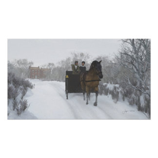 Winter Sleigh Ride Print