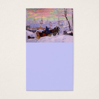 Winter Sleigh - Shrovetide Holiday Business Card