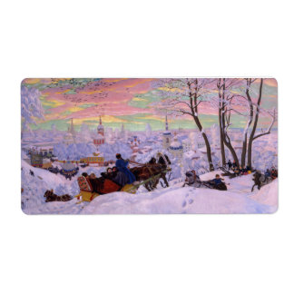 Winter Sleigh - Shrovetide Holiday Label