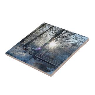 Winter - Small Ceramic Photo Tile.