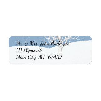 Winter Snow Address Label