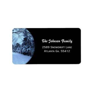 Winter Snow Address Labels