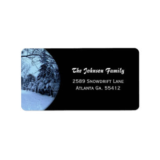 Winter Snow Address Labels