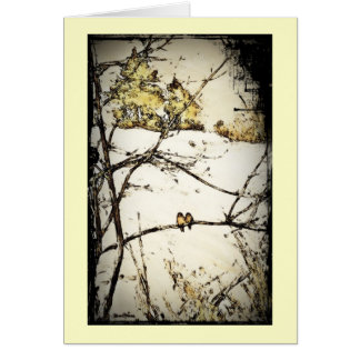 Winter Snow and Cold Card
