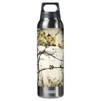 Winter Snow and Cold Thermos Bottle