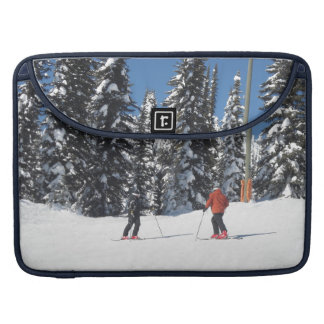 Winter Snow and Ski Scene Sleeves For MacBook Pro