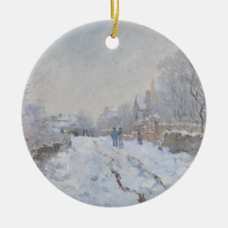 Winter Snow at Argeteuil Ceramic Ornament