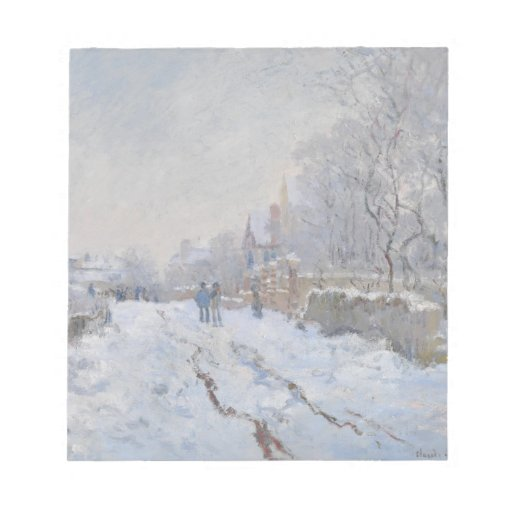 Winter Snow at Argeteuil Memo Notepad