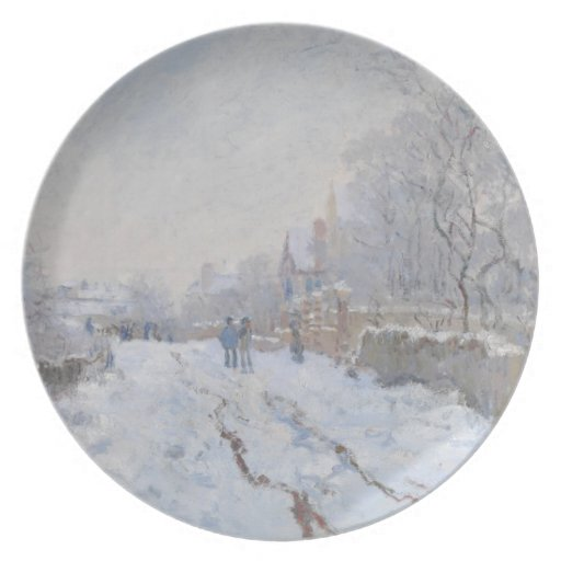 Winter Snow at Argeteuil Party Plates