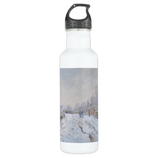Winter Snow at Argeteuil 24oz Water Bottle