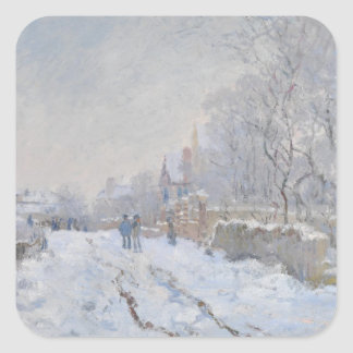 Winter Snow at Argeteuil Square Sticker