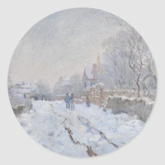 Winter Snow at Argeteuil Classic Round Sticker